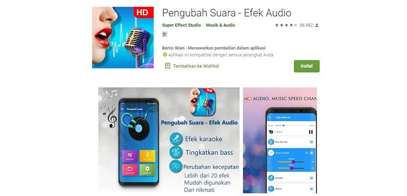 Pengubah Suara Efek Audio