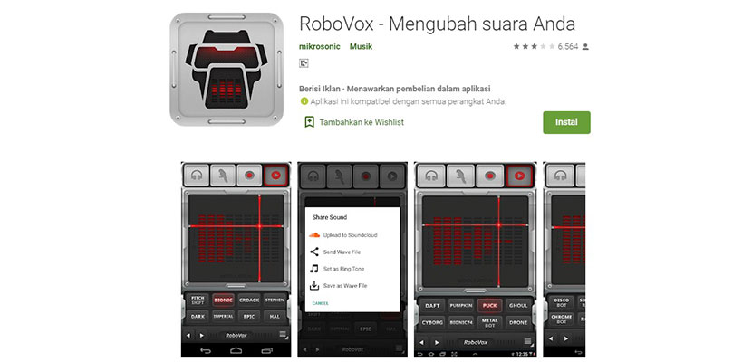 RoboVox Mengubah suara Anda