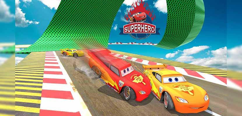 Splashy Superhero Vertigo racing lightning car
