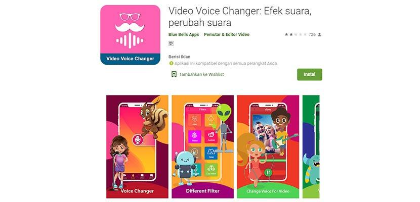 Video Voice Changer: Efek suara, perubah suara