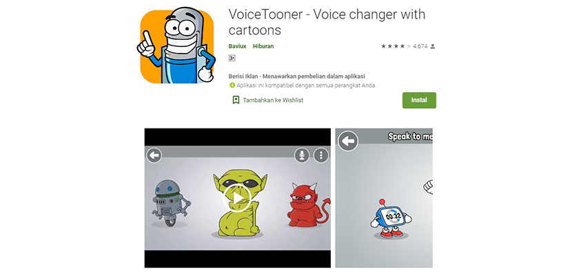 VoiceTooner Voice changer with cartoons