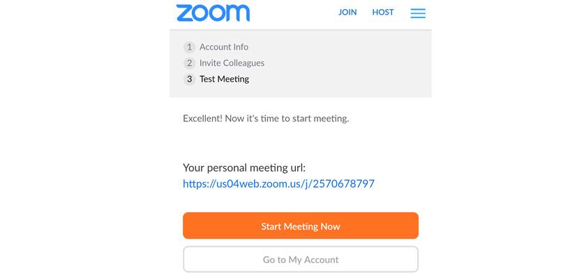 klik start meeting now untuk memulai meeting online