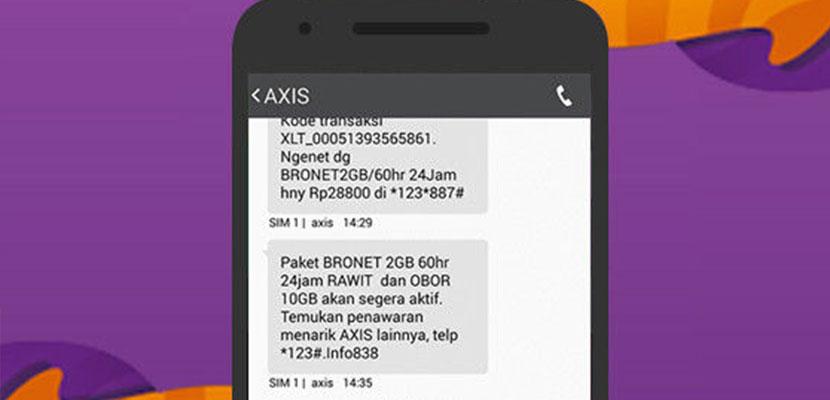 Cara Cek Kuota AXIS Melalui SMS