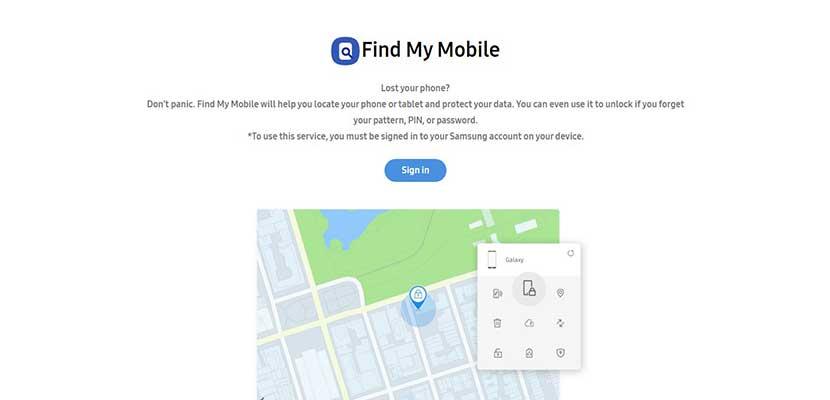 Melalui Situs Samsung Find My Mobile