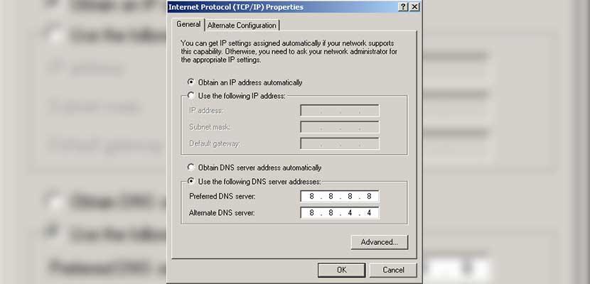 Menggunakan Google DNS