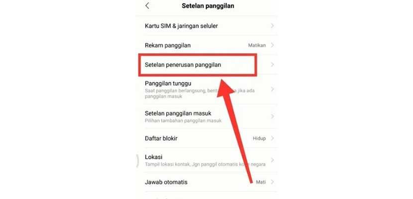 Cara Mematikan Penerusan Panggilan di HP Xiaomi