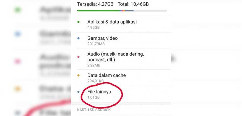 Cara Membersihkan File Lainnya di HP Xiaomi