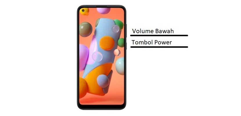 Cara Screenshot Samsung A11