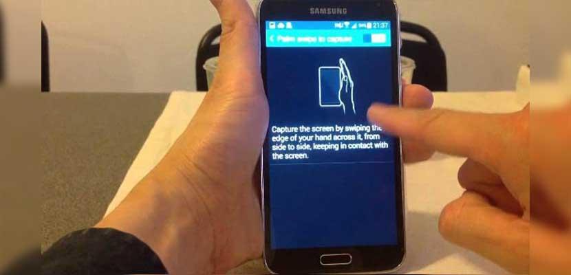 Cara Tangkap Layar Samsung A11 Menggunakan Usap Telapak Tangan