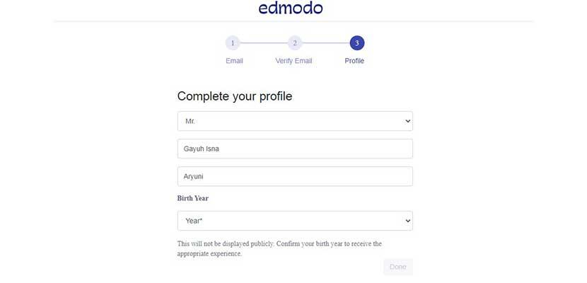 Lengkapi Profile