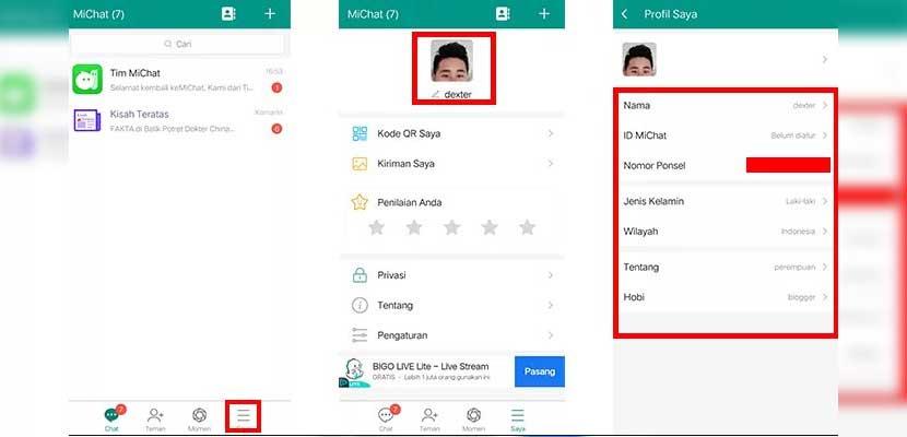 Cara Hapus Akun MiChat