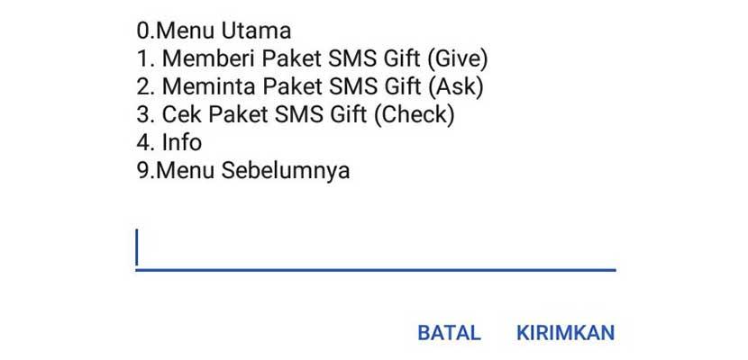 Cara Kirim SMS Gift