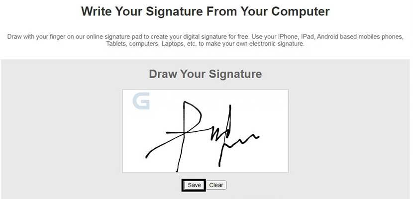 Buatlah tanda tangan pada kolom yang tersedia