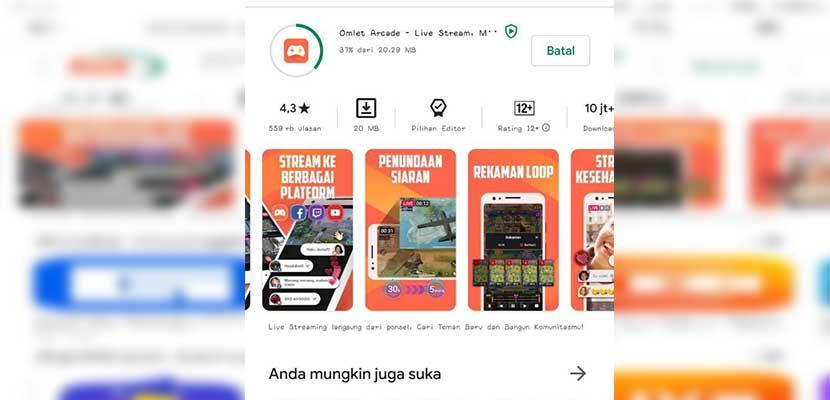Download aplikasii Omlet Arcade di Google Play Store