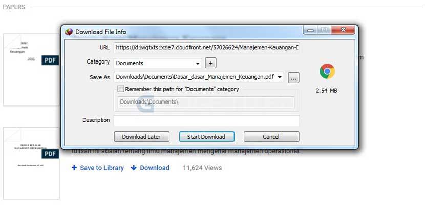 Klik Start Download