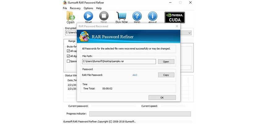 Melalui Aplikasi iSUmsoft RAR Password Refixer