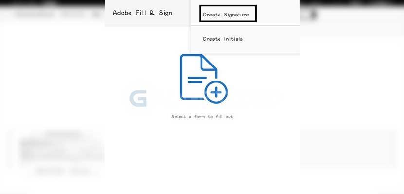 Pilih Create Signature