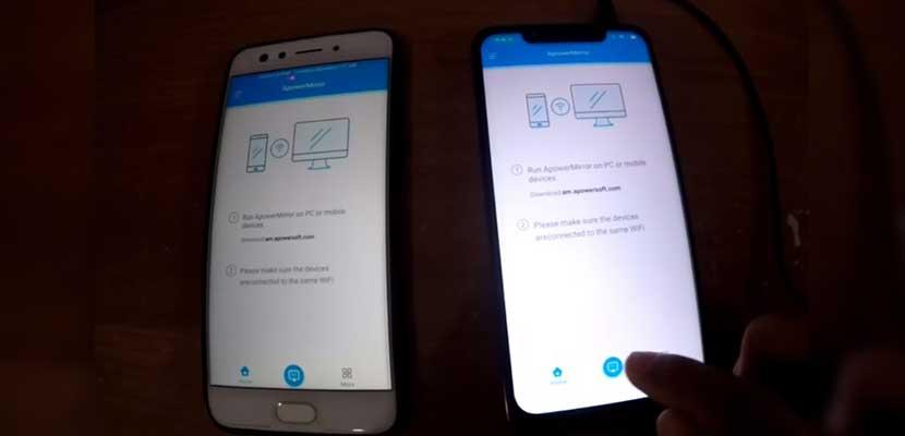Tap menu Scan untuk menghubungkan kedua HP tersebut