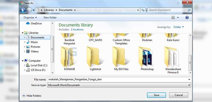 Tentukan folder untuk menyimpan hasil Download