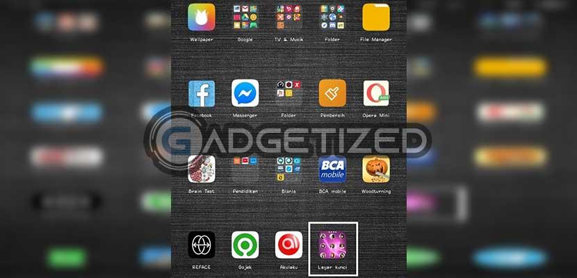 Buka aplikasi Layar Kunci Foto Sendiri