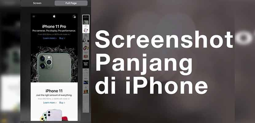 Cara Screen Capture Panjang di WhatsApp iPhone Tanpa Aplikasi