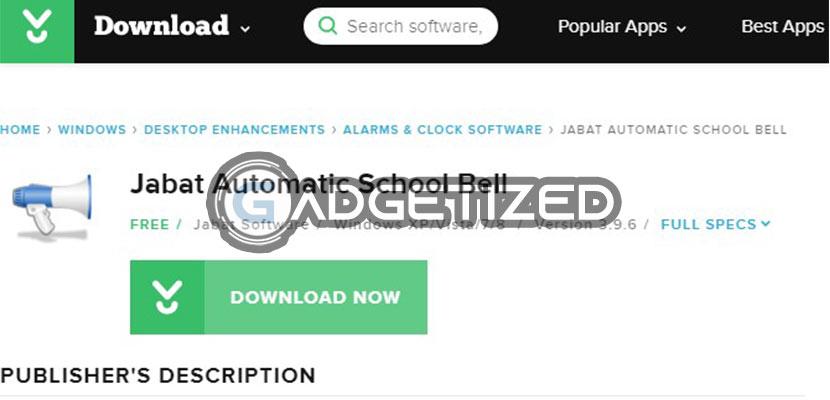 Download Aplikasi Jabat Automatic School Bell