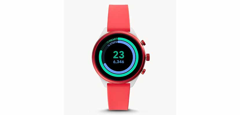 Fossil Sport Smartwatch Female Red Silicone