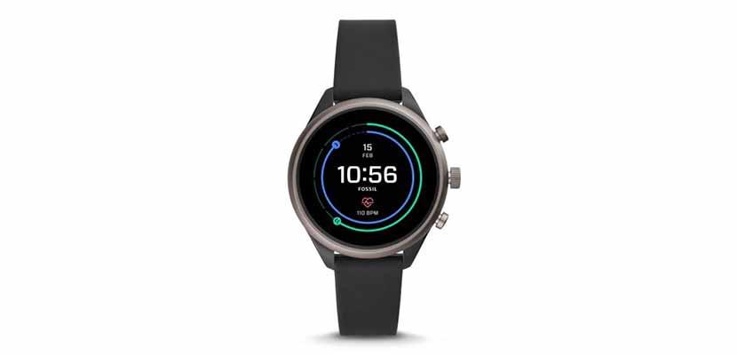Fossil Sport Smartwatch Men Black Silicone
