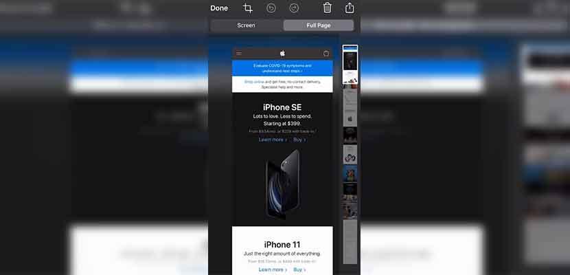 Tutorial Screenshot Panjang di iPhone 11 Pro Max
