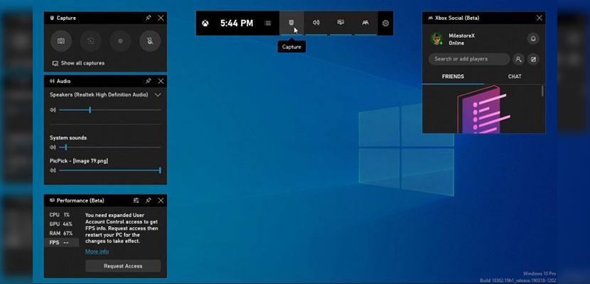Windows 10 Game Bar
