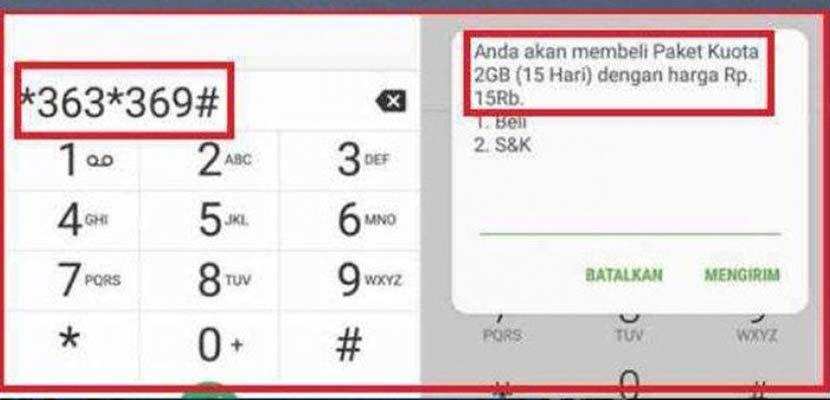 Kode Dial Telkomsel Kuota 2Gb 15rb