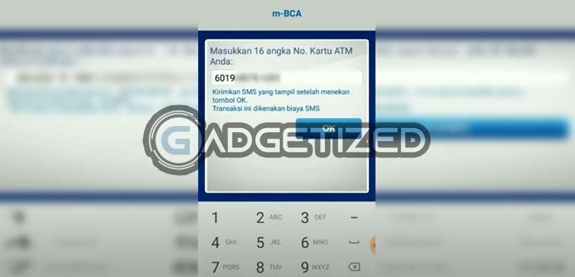 Masukkan nomor kartu ATM BCA