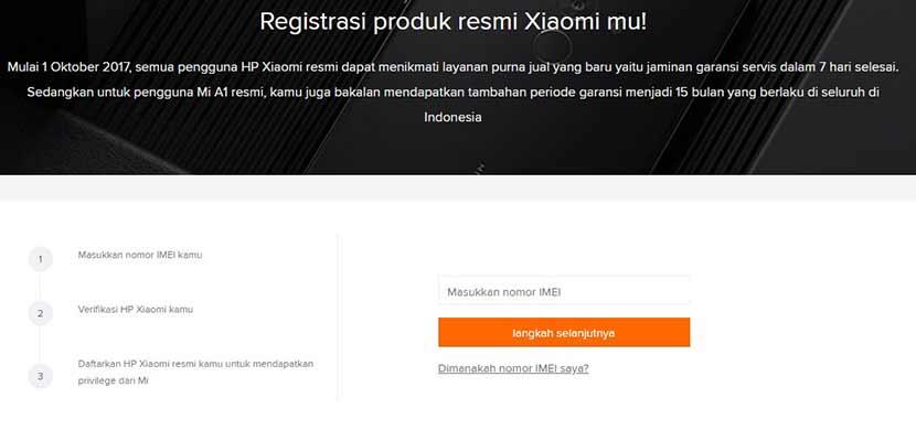 Melalui Situs MI Registration