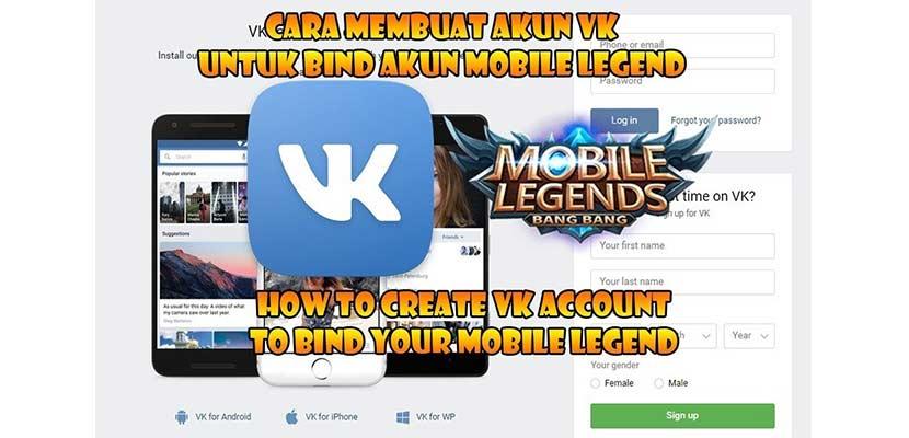 Begini Cara Membuat Akun VK Untuk Mobile Legend Terbaru Terlengkap