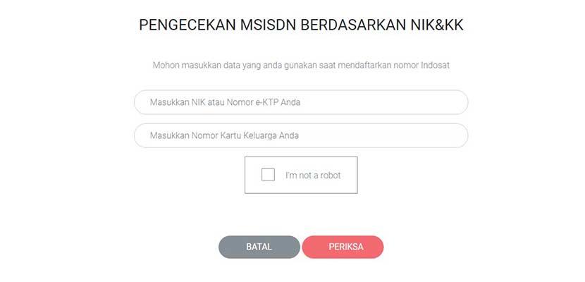 Cek Identitas Kartu Indosat via PC