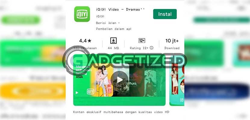 Download dan Instal aplikasi iQIYI