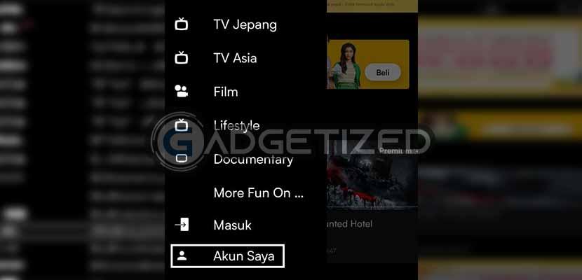 Buka aplikasi Viu di smartphone