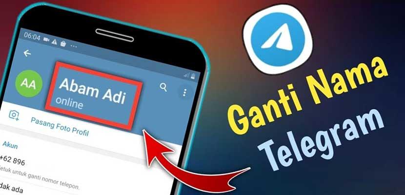 Cara Mengganti Nama di Telegram PC Smartphone