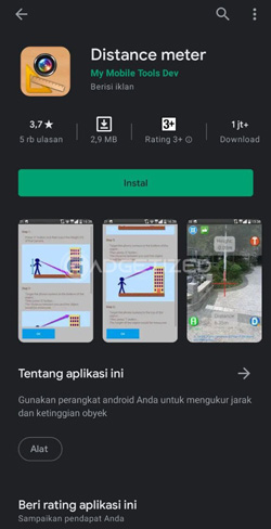 Download Aplikasi Distance Meter