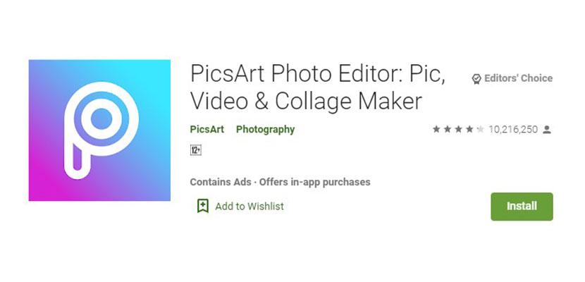 PicsArt Aplikasi Foto Jadi Kartun
