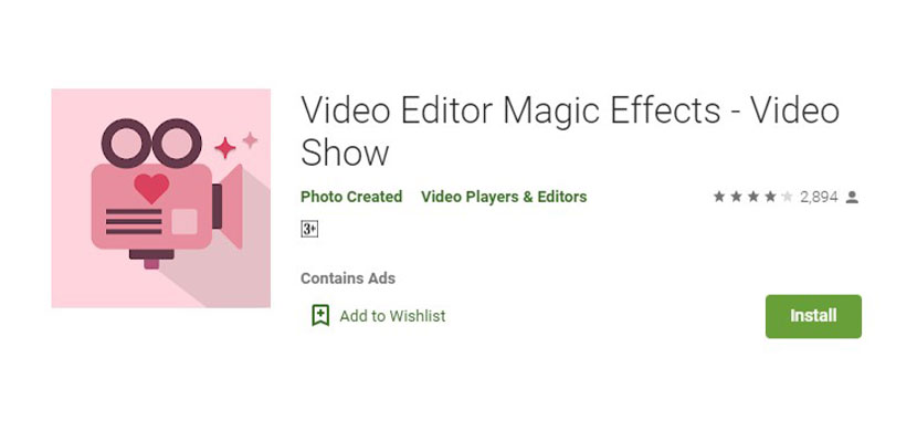 Video Editor Magic Effects Video Show