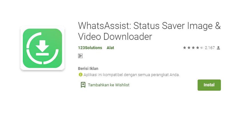 WhatsAssist Aplikasi Download Story WhatsApp
