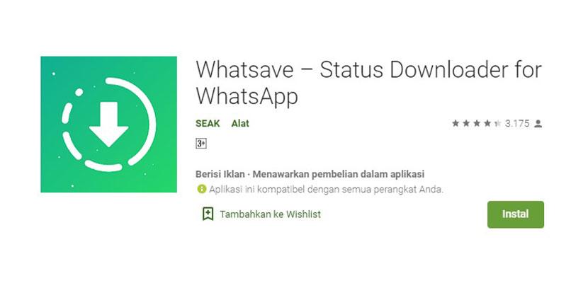 Whatsave Aplikasi Download Story WhatsApp