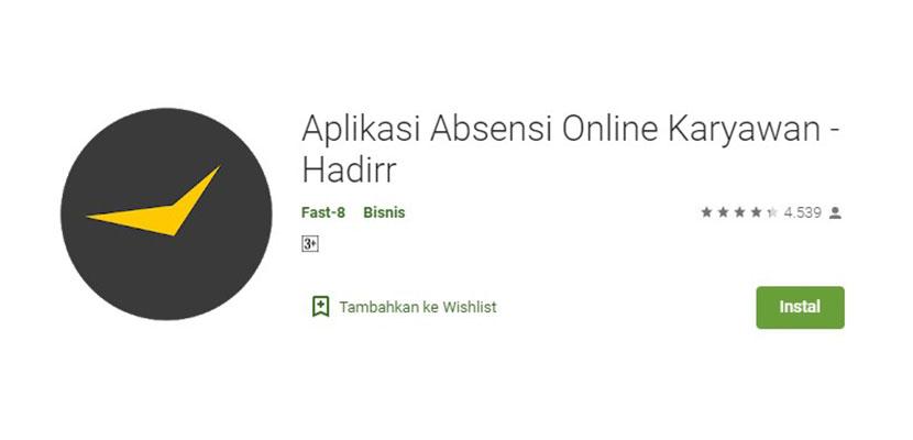 Aplikasi Absensi Online Karyawan Hadirr