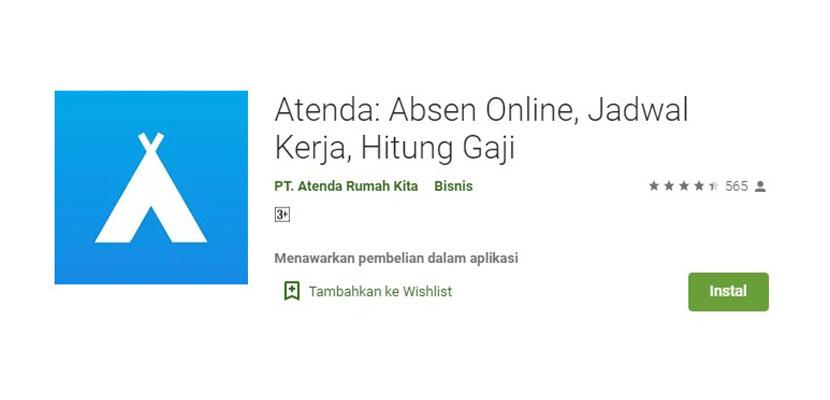 Atenda Absen Online Jadwal Kerja Hitung Gaji