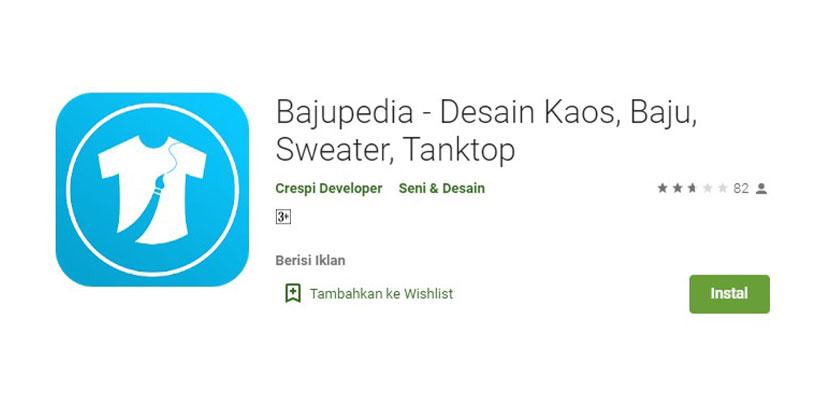 Bajupedia Aplikasi Desain Kaos Baju