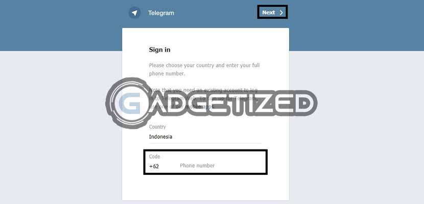 Buka Situs Telegram Web