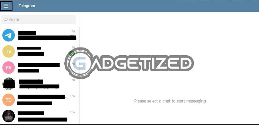 Buka Telegram Web