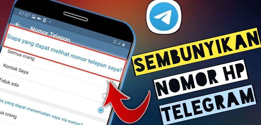 Cara Menyembunyikan Nomor di Telegram PC HP