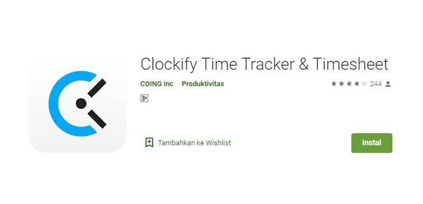 Clockify Time Trancker Timesheet